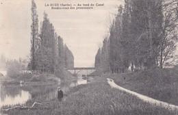 LA SUZE - Dépt 72 - Au Bord Du Canal, Rendez-vous Des Promeneurs - CPA - 1937 - La Suze Sur Sarthe