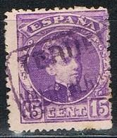 Sello 15 Cts Alfonso XIII, Carteria VALDEALGORFA (Teruel), Edifil Num 246 º - Used Stamps