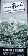 Pubblicità Turistica Altopiano Di Pine' Dolomiti Montagnaga Rizzolaga Anni '50 - Vieux Papiers