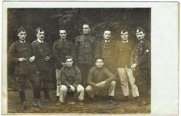 Carte Photo. Militaria. Groupe De Soldats. - War, Military