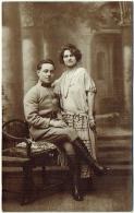 Carte Photo. Militaria. Euskirchen. 1924. Couple Avec Militaire. - Krieg, Militär