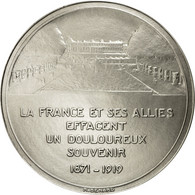 France, Médaille, La France Et Ses Alliés Effacent Un Douloureux Souvenir - France