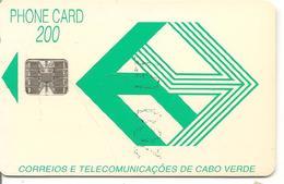 CARTE-PUCE-CAP VERT-200U-SC7-1993-LOGI VERT-UTILISE -TBE - Cape Verde