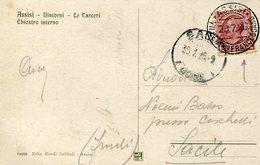 36025 Italia, Special Postmark 1926 Sanctuary Of Assisi,  St. Francis VII Centanary, San Francesco, Circuled Card - Cristianismo