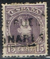 Sello 15 Cts Alfonso XIII, Carteria LINARES (Teruel), Edifil Num 245 º - Used Stamps