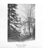 Neuchâtel Bâtiment Du Musée - Vue Prise De L'Etat - Tirage D'imprimerie De L'époque ( Papier ~14.5 X 13.5 Cm) - Reproductions
