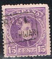 Sello 15 Cts Alfonso XIII, Carteria PUEBLA De HIJAR (Teruel), Edifil Num 246 º - Used Stamps