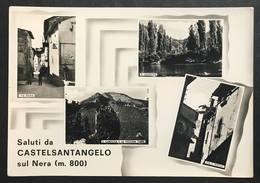 Saluti Da Castelsantangelo Sul Nera Marche Macerata Viaggiata 1964 Cod.c.2053 - Macerata