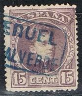 Sello 15 Cts Alfonso XIII, Carteria PUEBLA De VALVERDE (Teruel), Edifil Num 245 º - Used Stamps