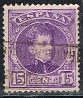 Sello 15 Cts Alfonso XIII, Carteria TRAMACASTILLA (Teruel), Edifil Num 246 º - Used Stamps