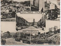 REAL PHOTOGRAPHIC MULTI VIEW - GREETINGS FROM WELSHPOOL - Montgomeryshire