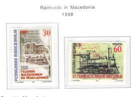 Macedonia PO 1998 Ferrovie  Scott.130+131+See Scan On Scott.Page - Macedonia