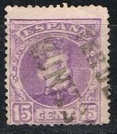 Sello 15 Cts Alfonso XIII, Carteria Especial MUNIESA I (Teruel), Edifil Num 246 º - Used Stamps