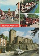 2 MODERN (GUESS 1970'S) POSTCARDS OF WELSHPOOL, CHURCH AND TRANSPORT - Montgomeryshire