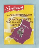 Magnet Collection Afrique  Brossard   Le Zébre - Animals & Fauna