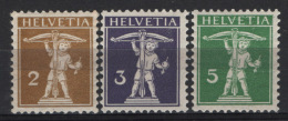 Svizzera 1909 Unif. 128/30 */MH VF/F - Switzerland