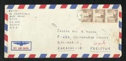 Saudi Arabia  Air Mail Postal Used Cover Gizan Abi Areesh To Pakistan - Saudi Arabia