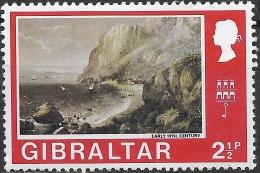 GIBRALTAR 1971 Decimal Currency - 2 1/2 P. Catalan Bay MH - Gibraltar