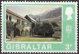 GIBRALTAR 1971 Decimal Currency -  3p. Convent Garden MNH - Gibraltar