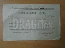 DC33.18 Institute  Anglokisasszonyok  Sancta Maria Intézete - Ethel Sprung - 164 Korona  - Recepit  1900 - Invoices & Commercial Documents