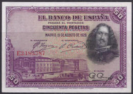 ESPAÑA 1928 - BILLETE SIN CIRCULAR - [ 1] …-1931 : Prime Banconote (Banco De España)