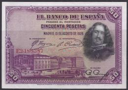 ESPAÑA 1928 - BILLETE SIN CIRCULAR - [ 1] …-1931 : Primeros Billetes (Banco De España)