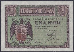 ESPAÑA 1938 - BILLETE SIN CIRCULAR - [ 3] 1936-1975 : Régence De Franco