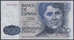 ESPAÑA 1979 - BILLETE SIN CIRCULAR - 500 PESETAS - [ 4] 1975-… : Juan Carlos I