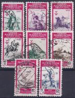 ESPAÑA / MARRUECOS 1953 - Edifil#374/81 - VFU - Spaans-Marokko