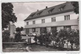 AK - NÖ - Leopoldsdorf Im Marchfeld Mit Alter Volksbank - 1962 - Gänserndorf