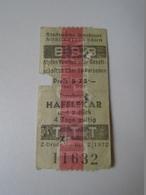 DC33.22  Innsbruck  Nordkettenbahn - Hafelekar  Und Zurück - Ticket - Cable Car Teleferique 1972 - Transportation Tickets