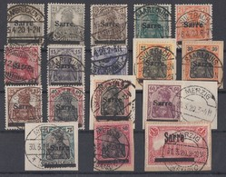 Saargebiet Minr.1-17 Gestempelt Teils Briefstücke - 1920-35 Saargebiet – Abstimmungsgebiet