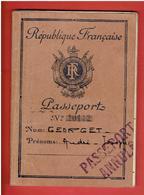 PASSEPORT FRANCAIS 1951 USA GUYANE LIBAN AUSTRALIE NOUMEA NOUVELLE CALEDONIE VIET NAM FIDJI OCEANIE PAPEETE SINGAPORE - Historical Documents