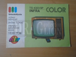 DC35.1   VIDEOTON  TS 4323 SP  INFRA COLOR TV  User's Manual  And Warranty Booklet  1983 - Invoices & Commercial Documents