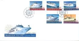 NORFOLK ISLAND - FDC - 26.3.2010 -  CRUISE SHIPS - Yv 1015-1019 - Lot 17585 - Ile Norfolk