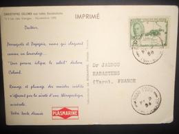 Iles Vierges , Carte De Road Town 1956 Pour Rabastens - Iles Vièrges Britanniques