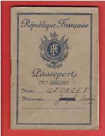 PASSEPORT FRANCAIS 1947 GRECE MAROC TURQUIE ITALIE TIMBRE FISCAL TURQUIE ITALIE GRECE CONSIGNES POUR ALLEMAGNE AUTRICHE - Historical Documents