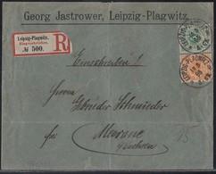 DR R-Brief Mif Minr.46c, 49b Leipzig-Plagwitz 13.5.95 Geprüft - Deutschland