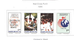 Macedonia Postal Tax 1995 Red Cross Fund    Scott.RA 66/69+See Scan On Scott.Page - Macedonia