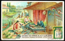"LIEBIG - FR - 1 Chromo - Série/Reeks S 1217 -PROFESSIONS ORIGINALES EN PLEIN AIR: Confection De ""curiosités"" à Hong-Kong - Liebig"