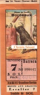 Billet De Corrida Du  30/05/1957 Arènes De BORDEAUX 33 - Scans Recto-verso - Tickets D'entrée