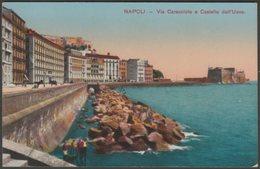 Via Caracciolo E Castello Dell'Uovo, Napoli, Campania, C.1910 - Renzi Cartolina - Napoli (Naples)