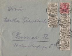 DR Brief Mif Minr.5x 102,105 Saalfeld 3.12.19 - Deutschland