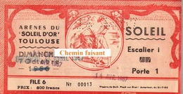 Billet De Corrida Du  14/04/1967 Arènes De TOULOUSE 31 - Scans Recto-verso - Tickets D'entrée