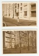 LOT DE 2 PHOTOS ORIGINALES IMMEUBLE ARCHITECTURE BATIMENT HLM - LIEU A IDENTIFIER - Other