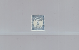 FRANCE - 1927-31 - TAXE - YT N° 61 - 2 F. Bleu - NEUF* - Taxes