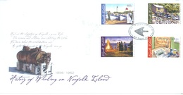 NORFOLK ISLAND - FDC - 16.8.2010 -  HISTORY OF WHALING - Yv 1024-1027 - Lot 17587 - Ile Norfolk