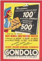 CARTE PUBLICITAIRE BISCUIT BALTO GONDOLO CARTE EN BON ETAT - Advertising