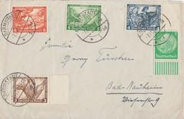 DR Brief Mif Minr.499 SR, 500 SR, 501, 503 515 UR Darmstadt 7.11.33 - Germany