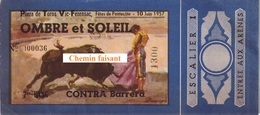 Billet De Corrida Du  10/06/1957 Arènes De VIC-FEZENSAC 32  - Scans Recto-verso - Tickets D'entrée